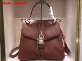 Chloe Medium Aby Day Bag in Sepia Brown Grained and Shiny Calfskin Replica