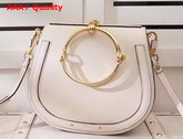 Chloe Medium Nile Bracelet Bag in Beige Smooth and Suede Calfskin Replica