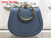 Chloe Medium Nile Bracelet Bag in Light Cloudy Blue Smooth and Suede Calfskin Replica