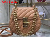 Chloe Mini Drew Bijou Bag in Beige Quilted Smooth Calfskin Replica