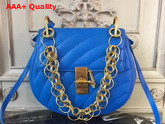 Chloe Mini Drew Bijou Bag in Blue Quilted Smooth Calfskin Replica