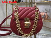 Chloe Mini Drew Bijou Bag in Red Quilted Smooth Calfskin Replica