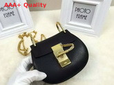 Chloe Nano Drew Bag In Black Grained Calfskin Replica