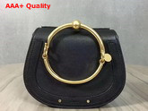 Chloe Nile Bracelet Bag in Black Smooth and Suede Calfskin Replica