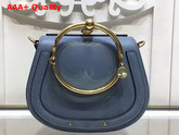 Chloe Nile Bracelet Bag in Cloudy Blue Smooth and Suede Calfskin Replica