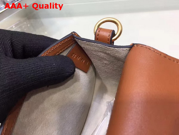 Chloe Nile Bracelet Bag in Smooth and Suede Calfskin Caramel Replica