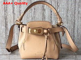 Chloe Owen Small Bucket Bag Beige Smooth and Suede Calfskin Replica