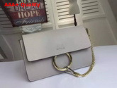 Chloe Small Faye Bag in Light Grey Smooth Calfskin Replica