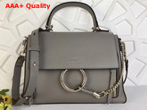 Chloe Small Faye Day Bag in Grey Smooth and Suede Calfskin Replica