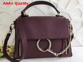 Chloe Small Faye Day Bag in Smooth and Suede Calfskin Carbon Brown Replica