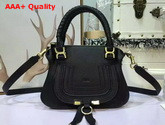 Chloe Small Marcie Bag Black Grained Calfskin Replica