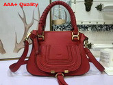 Chloe Small Marcie Bag Red Grained Calfskin Replica