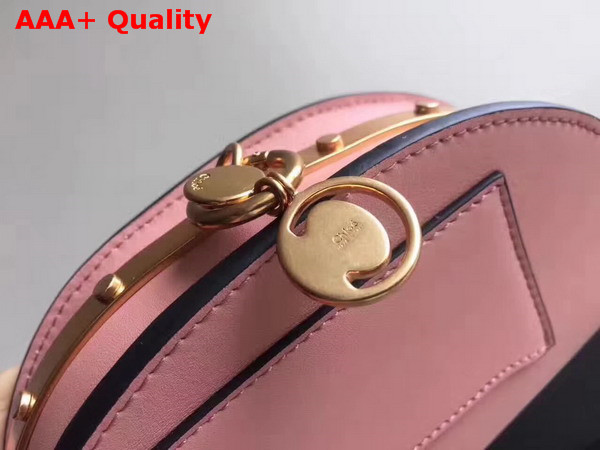 Chloe Small Nile Minaudiere in Pink Smooth Calfskin Replica