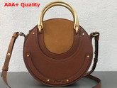 Chloe Small Pixie Bag Brown Suede and Calfskin Replica
