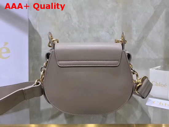 Chloe Small Tess Bag Motty Grey Shiny and Suede Calfskin Replica