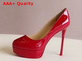 Christian Louboutin Bianca Platform Pump Red Patent Leather Replica