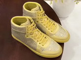 Christian Louboutin Loubikick Sneaker Boot with Strass Yellow For Sale