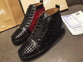 Christian Louboutin Louis Calf Spikes Black For Sale
