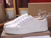Christian Louboutin Louis Junior Mens Flat in White Calfskin For Sale