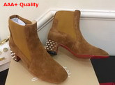 Christian Louboutin Study Ankle Boot in Coconut Suede Replica