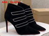 Christian Louboutin Triniboot in Black Suede Leather Replica