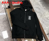 Burberry Monogram Motif Cotton Oversized Hooded Top Black Replica