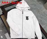 Burberry Monogram Motif Cotton Oversized Hooded Top White Replica