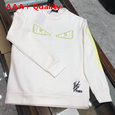 Fendi Bag Bugs Sweatshirt in White Cotton Replica