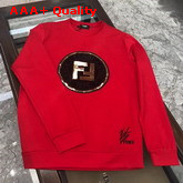 Fendi Sweatshirt in Red with Embroidered Fendi Logo Replica