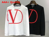 Valentino Crew Neck Sweatshirt with VLOGO Print White Cotton Replica