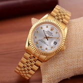 Rolex Date Just Sparkle Star Watch Yellow Gold for Sale