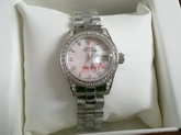 Rolex Lady Date Just 26 White Gold And Diamonds Pink Mother Of Pearl Dial for Sale