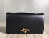 Dior Bee Pouch in Black Calfskin For Sale