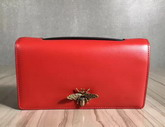 Dior Bee Pouch in Red Calfskin For Sale