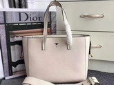 Dior Bee Shopper in Off White Grained Calfskin For Sale