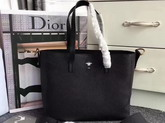 Dior Bee Shopping Bag in Black Grained Calfskin For Sale