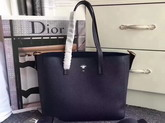 Dior Bee Shopping Bag in Navy Blue Grained Calfskin For Sale