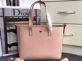 Dior Bee Shopping Bag in Pink Grained Calfskin For Sale