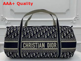 Dior Bowling Bag in Embroidered Canvas Replica