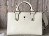 Dior D Bee Tote Handbag in White Smooth Calfskin For Sale
