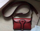 Dior D bee Mini Saddle Bag in Red Calfskin For Sale