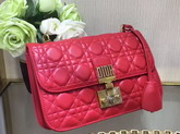 Dior Dioraddict Wallet On Chain Clutch in Red Lambskin with Cannage Motif For Sale