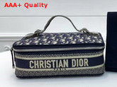 Dior Jewelry Box in Blue Dior Oblique Jacquard Canvas Replica