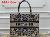 Dior Kaleidiorscopic Small Book Tote Bag in Beige Replica