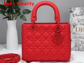 Dior Lady Dior Ultra Matte Bag in Matte Red Cannage Calfskin Replica