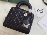 Dior Lily Bag in Black Cannage Lambskin for Sale