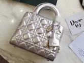 Dior Lily Bag in Silver Cannage Lambskin for Sale