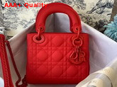 Dior Mini Lady Dior Ultra Matte Bag in Red Replica