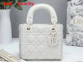 Dior Mini Lady Dior Ultra Matte Bag in White Replica