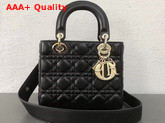Dior My ABCDior Bag in Black Cannage Lambskin Replica